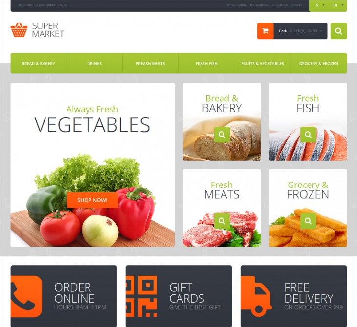 magento supermarket template