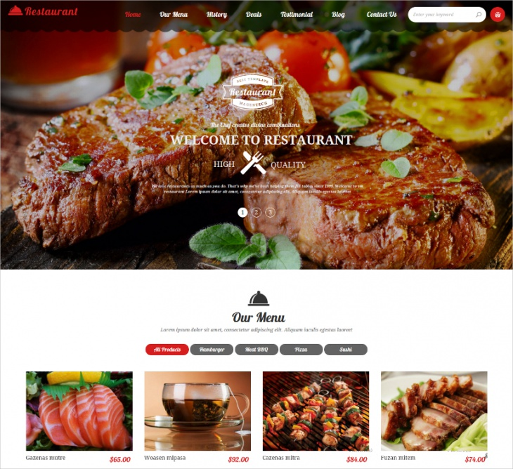 Restaurant Multipurpose Magento Theme