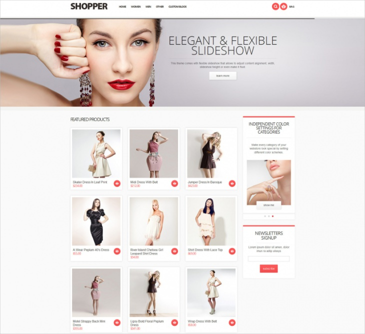 Shopper Responsive Magento Theme