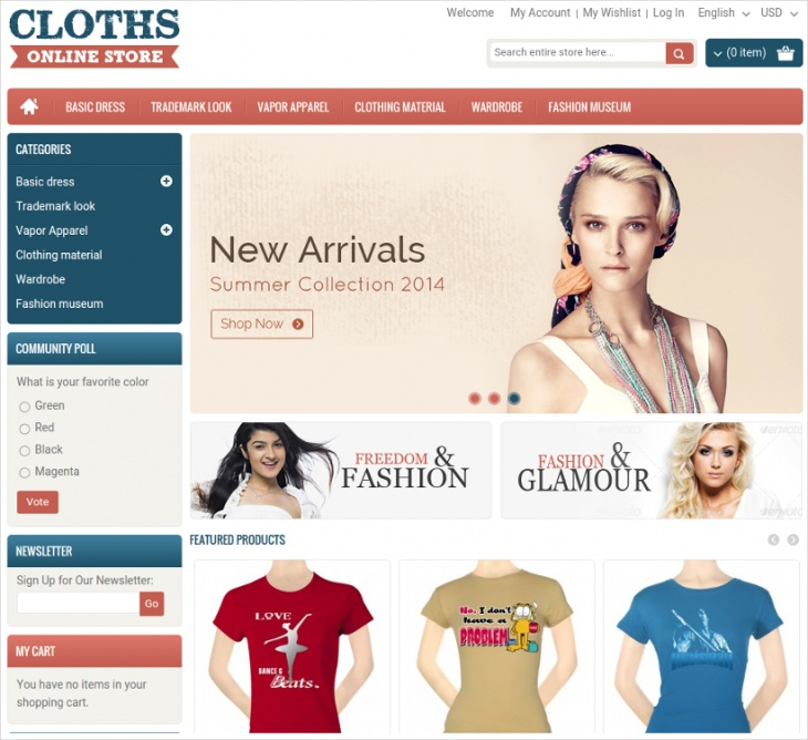 online clothes store magento template