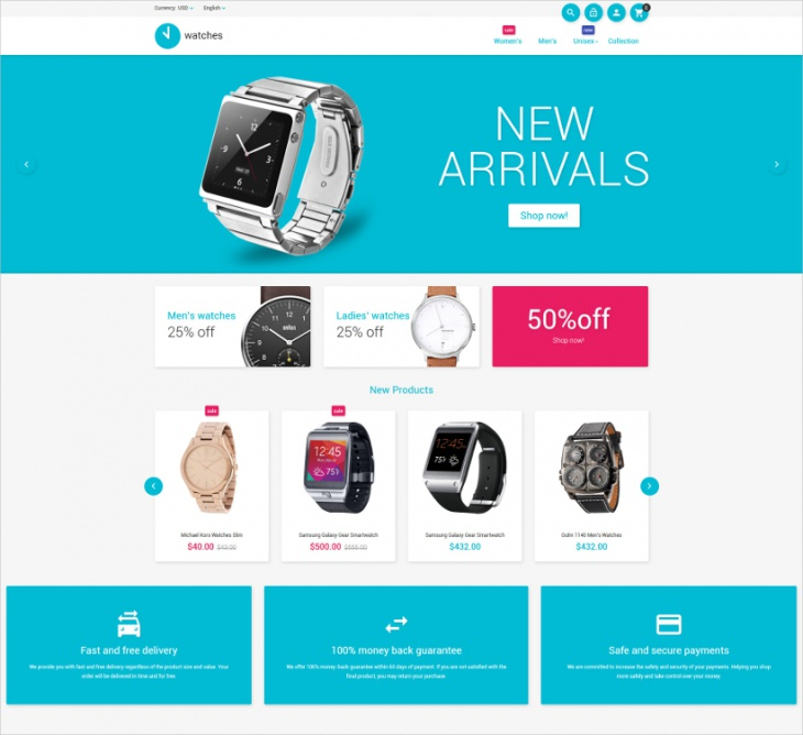 watches ecommerce theme