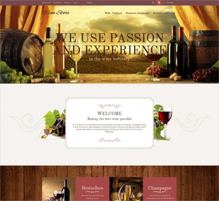 wine store magento template1