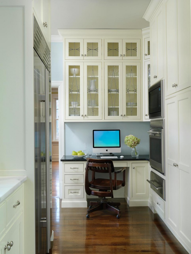 small home office is incorporated into the design