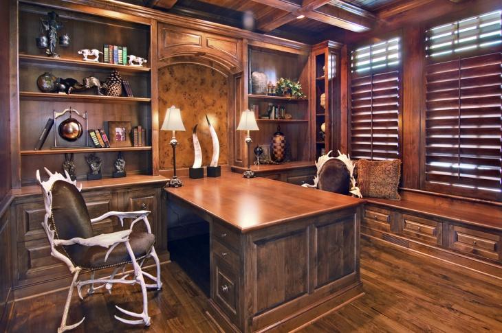 Home Office Shelf Desk Design