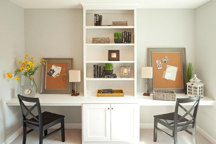 Awesome Shelf Desk Design