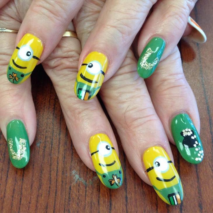 minion nail art design