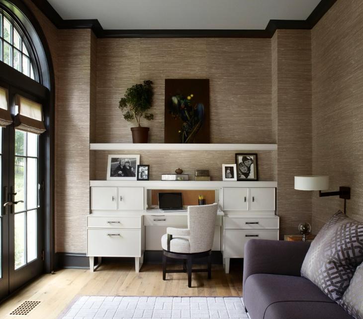 Luxurious Shelf Desk Design