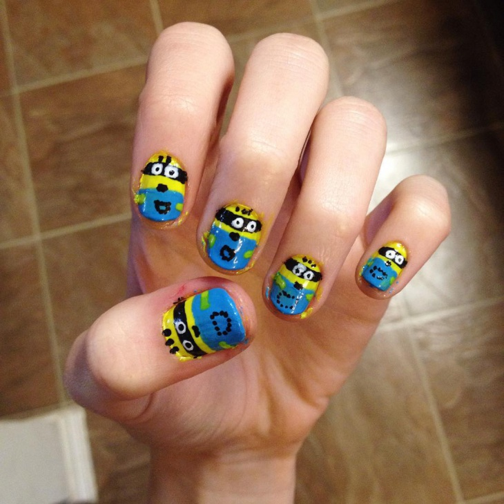 Minion Nail Art Ideas