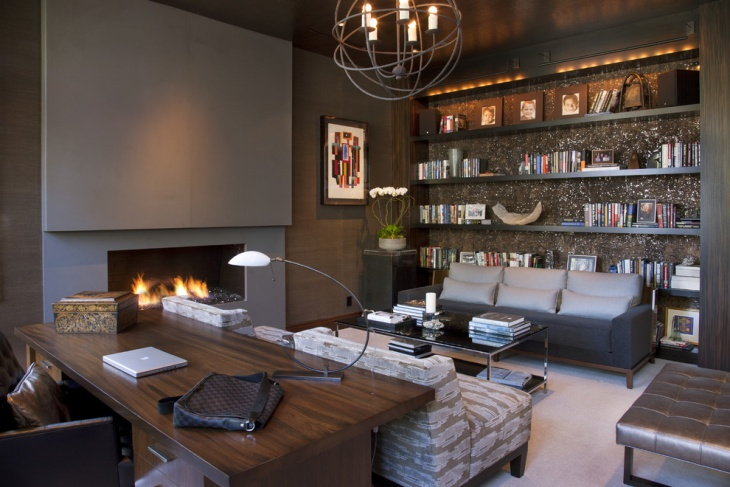 Contemporary home office with Designed Galary