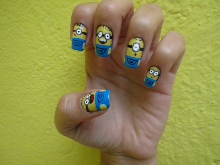 Cute Minion Nail Art Ideas