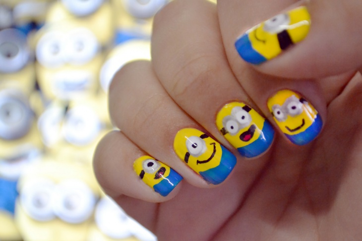 Awesome Minion Nail Art