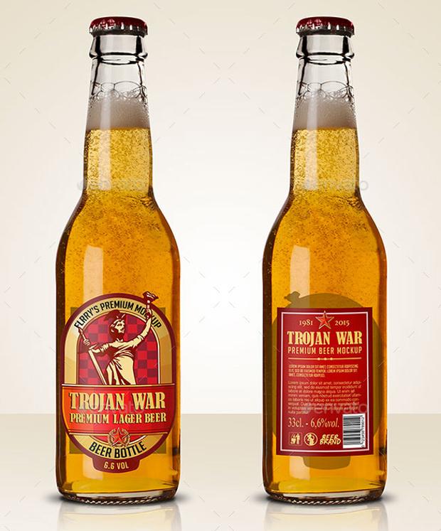 premium beer bottle mockup design