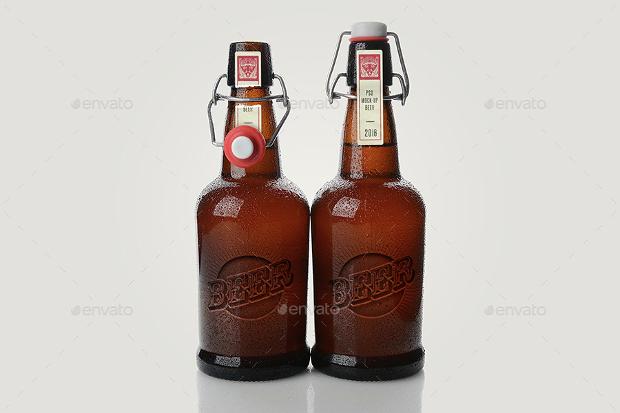 minimal beer mockup design