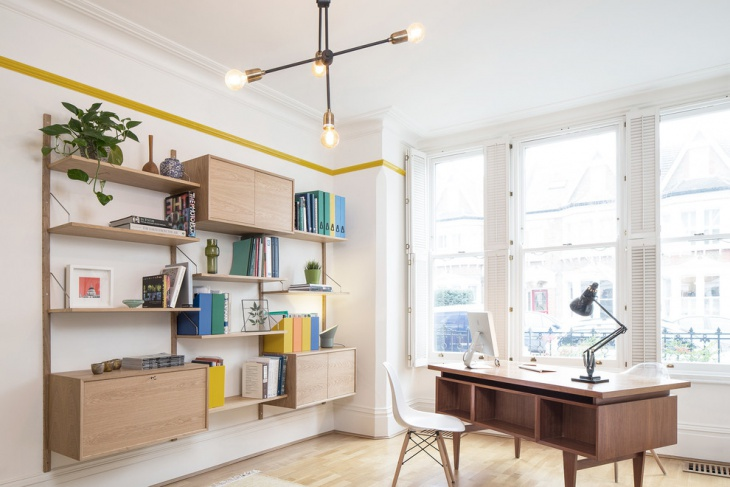 Stylish Scandinavian Work Space Design