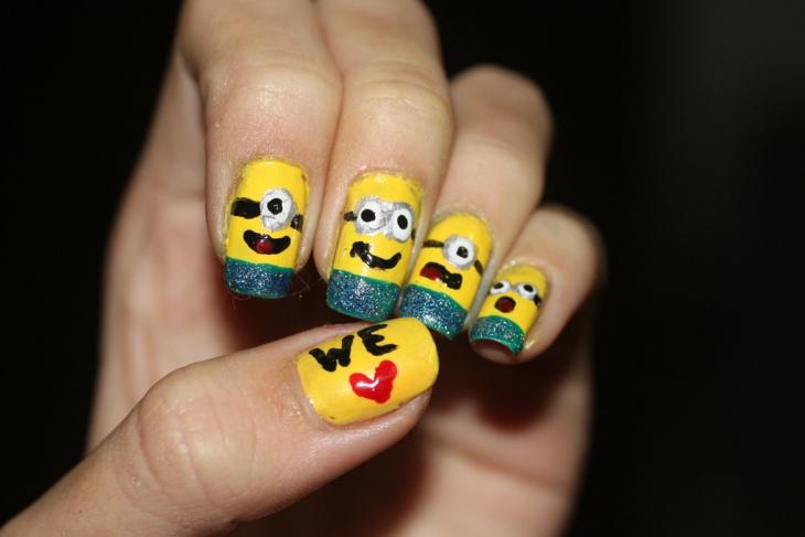fantastic minion nail art