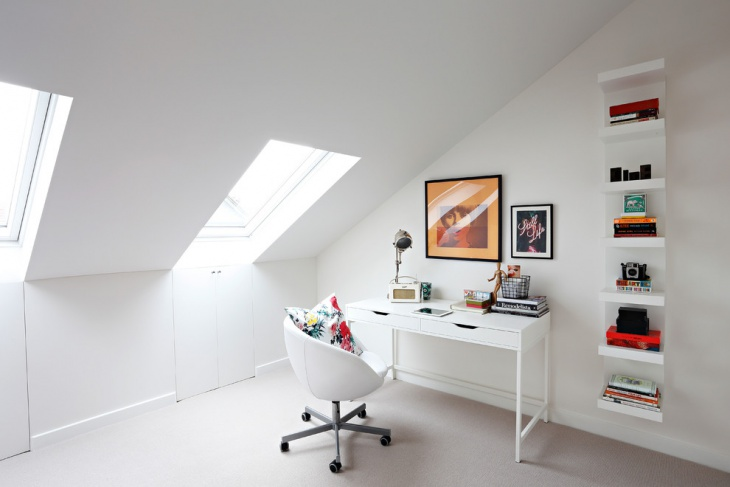 White Scandinavian Work Space Design