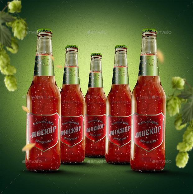 beer bottle mockup design