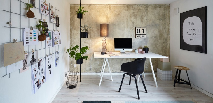 Classic Scandinavian Work Space Design