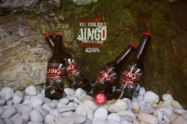 awesome beer bottle psd mockup