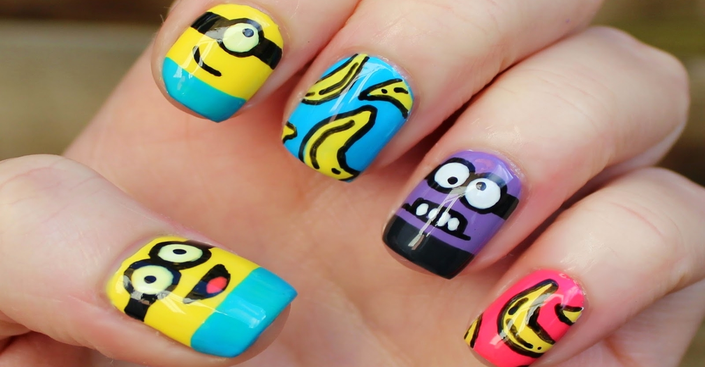 Amazing Minion Nail Art Designs - 20+ Minion Nail Art Designs, Ideas Design Trends - Premium PSD