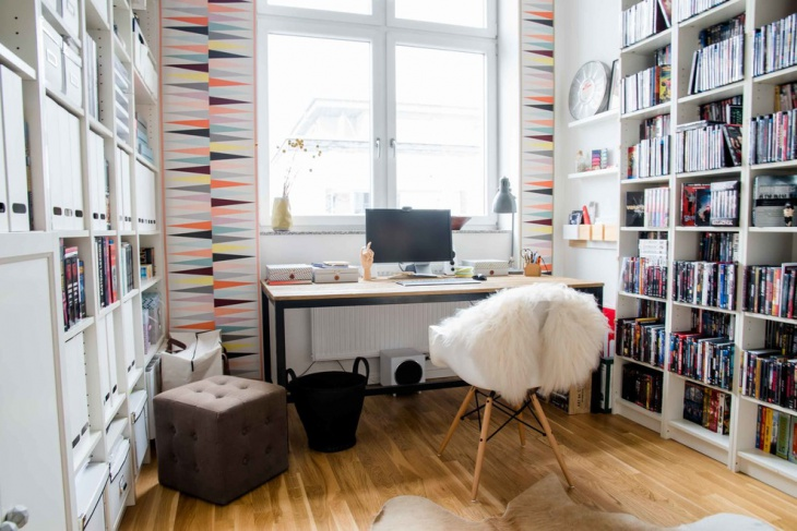 Cute Scandinavian Work Space Design for Teens