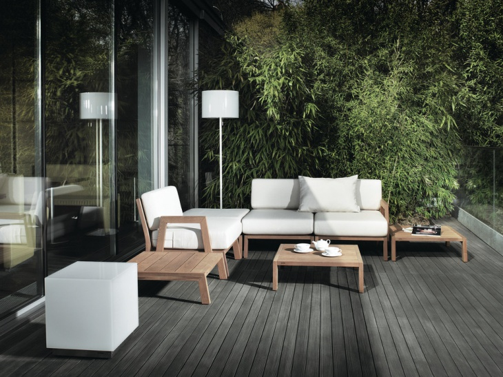 21 modern teak furniture designs ideas plans design for Designer garden furniture