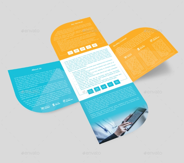 colorful brochure mockup design