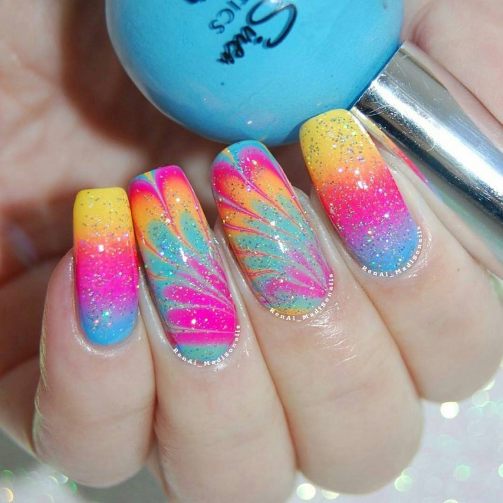 Colorful Gradient Nail Ideas
