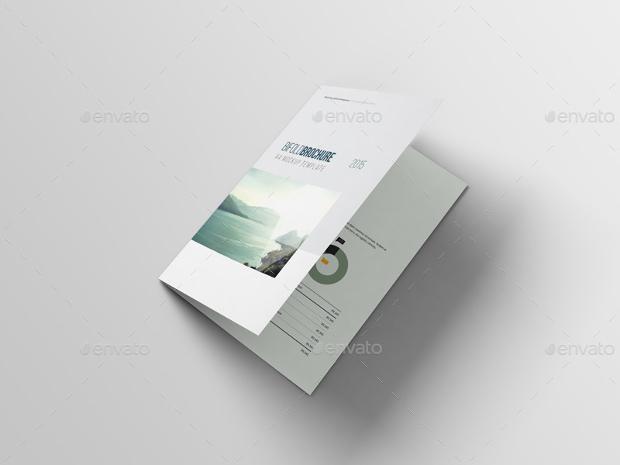 a4 bi fold brochure mockup design