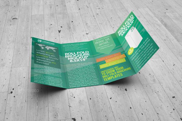 foldable brochure mockup