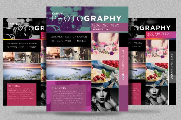 Editable Photography Flyer