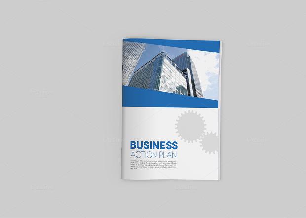 A4 Realistic Brochure Mockup Design