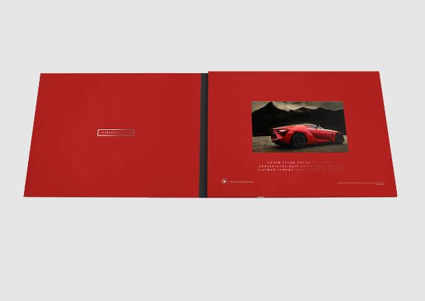 Landscape Video Brochure Mockup