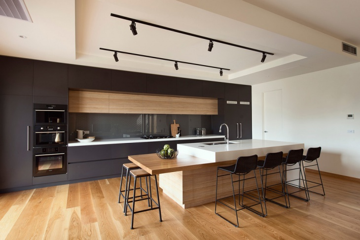 classy kitchen with teak furniture