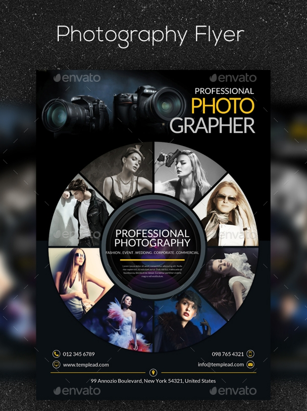 Photography Flyer Design Psd Download  Design Trends