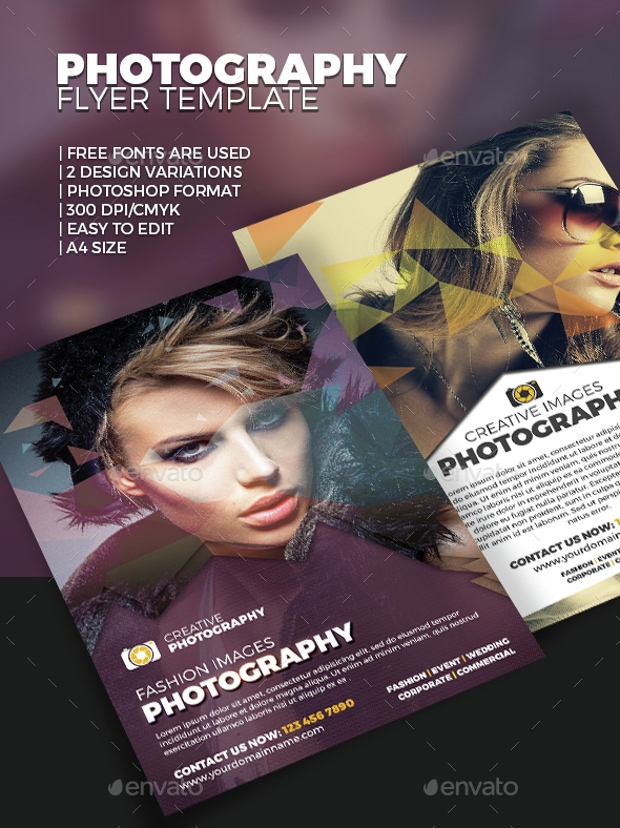 Fully Editable Photography Flyer