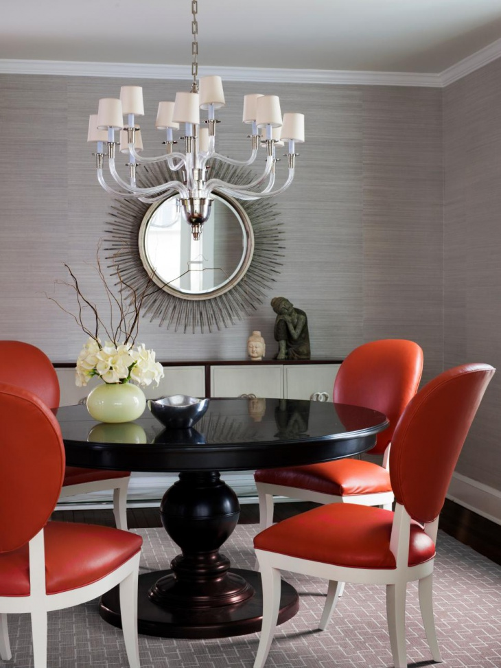 Funky Dining Room With Pendent Light