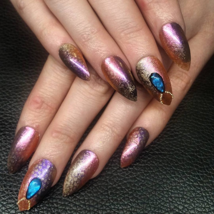 Shimmering Mermaid Nail Design