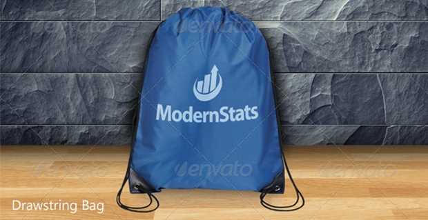 photorealistic drawstring bag mockup