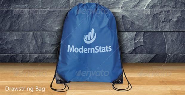 Photorealistic Drawstring Bag Mockup
