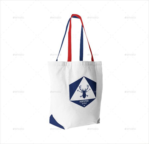Hipster Style Drawstring Bag Mockup