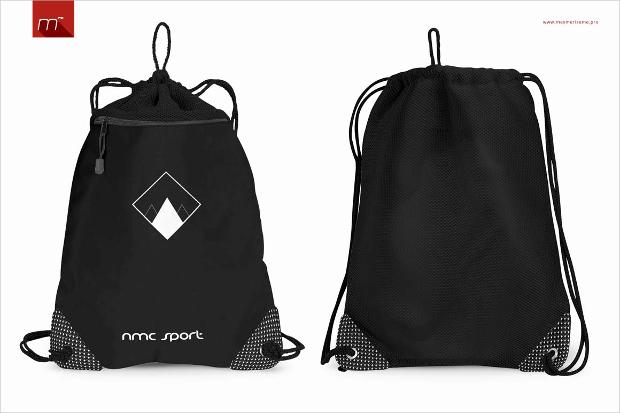 Realistic Drawstring Bag Mockup