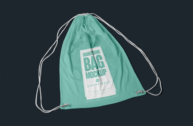 amazing drawstring bag mockup