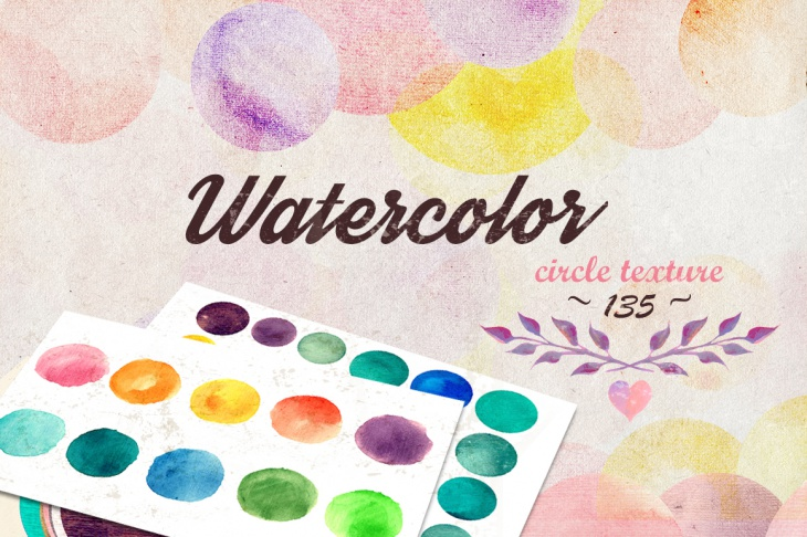 Collection 135 High Res Watercolor Circle Textures