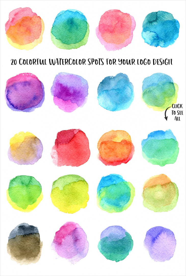 20 Colorful Watercolor Circle Textures