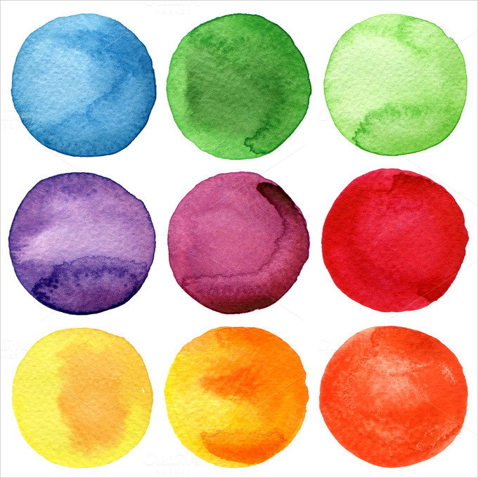 Watercolor Hand Painted circles Texture