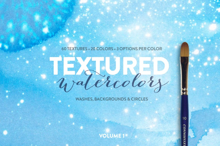 60 high res watercolor circle textures