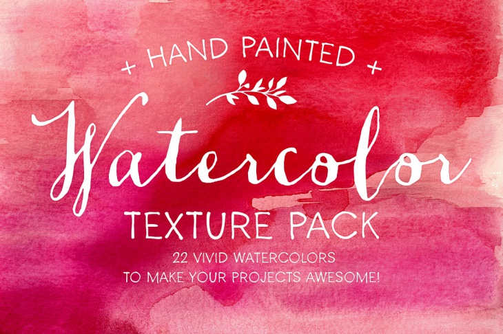 Hand Painted Watercolor Textures Pack
