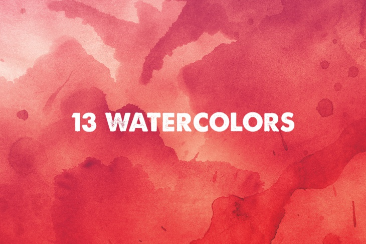 13 high res watercolor textures for graphic artwork