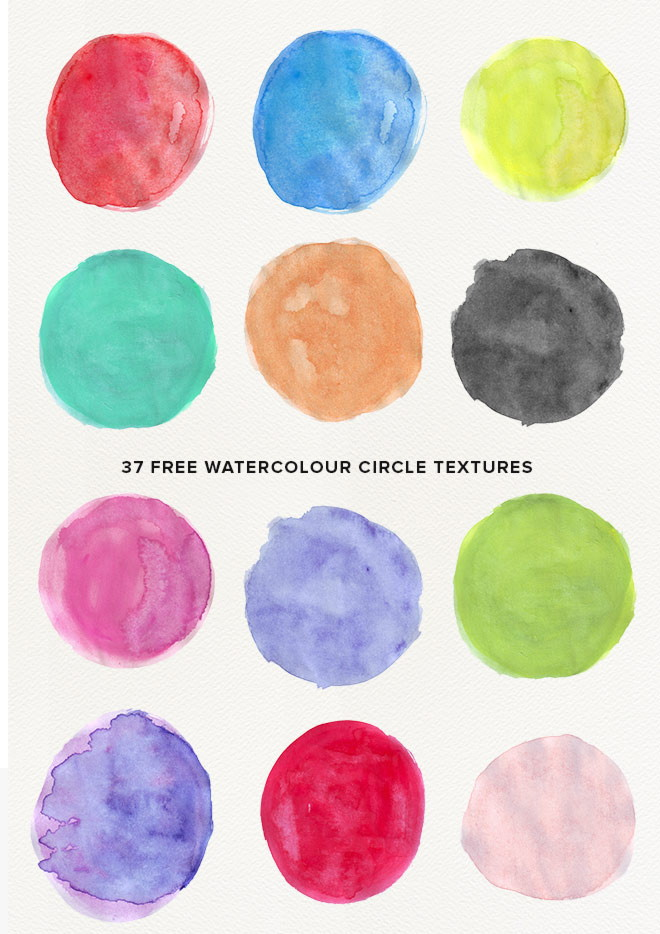 High Quality Free Photoshop Watercolor Circle Textures